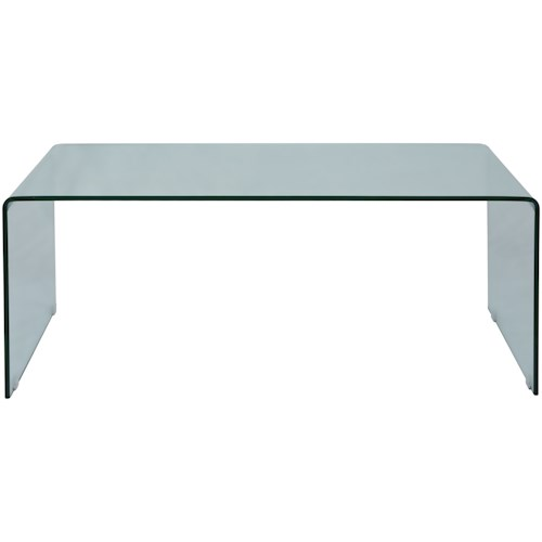 Jofran Clarity Bent Glass Cocktail Table