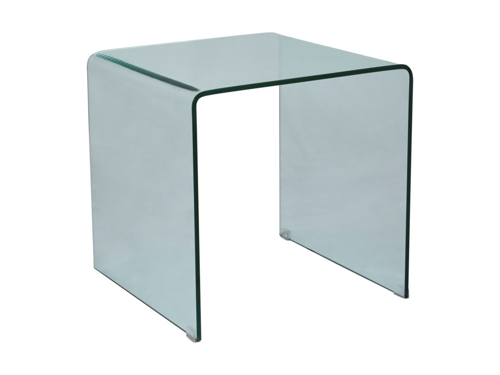 Jofran ClarityBent Glass End Table