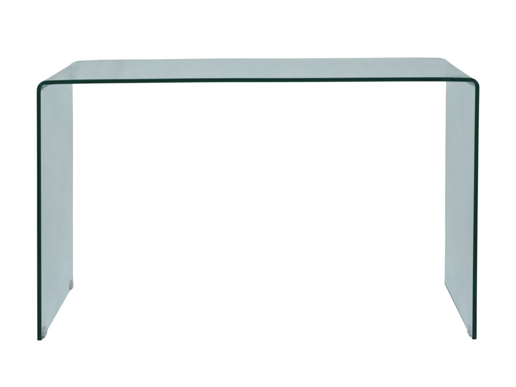 Jofran ClarityBent Glass Sofa Table