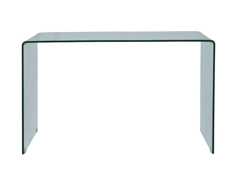 Jofran ClarityBent Glass Sofa Table