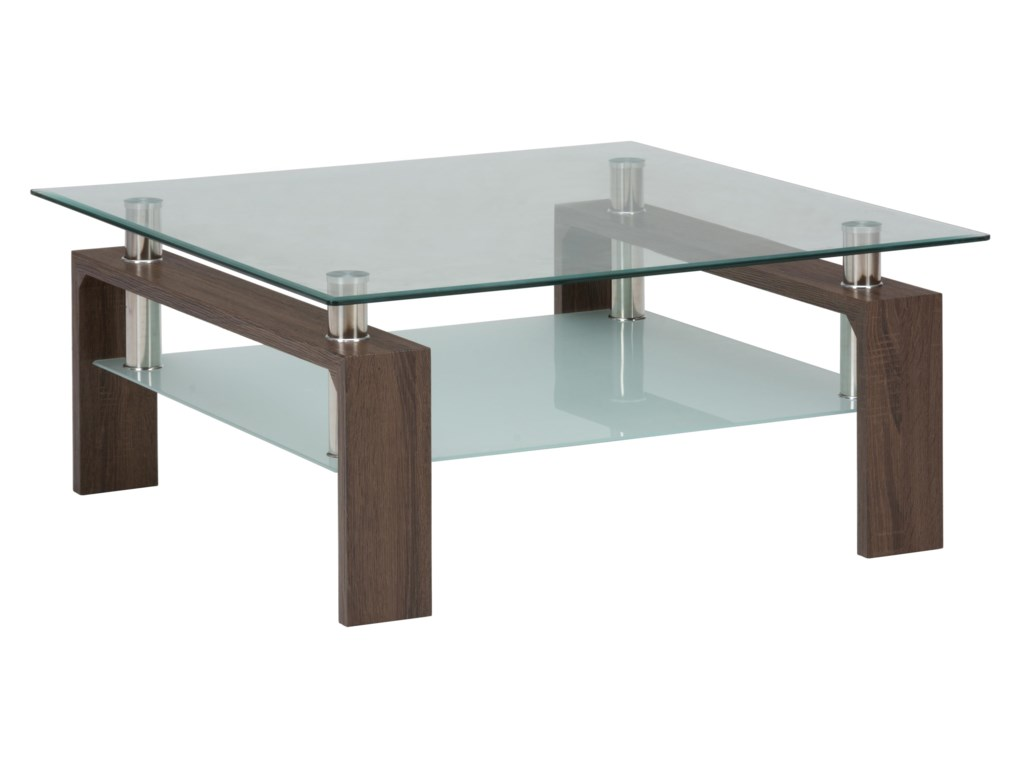 Jofran CompassSquare Cocktail Table Glass Top