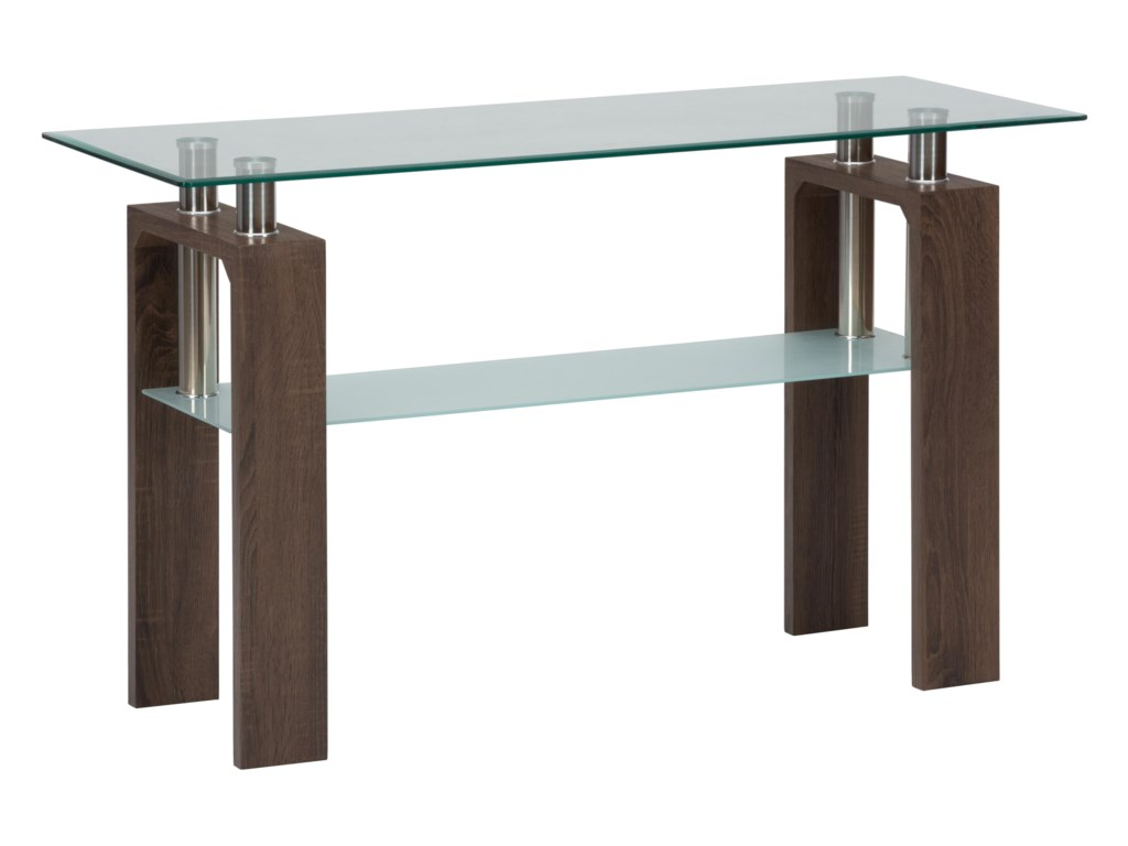 Jofran CompassSofa Table with  Glass Top