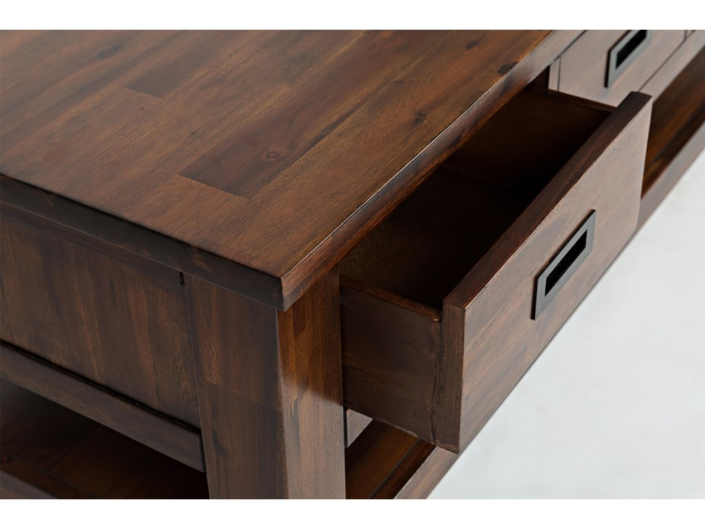 Jofran Coolidge CornerThree Drawer Cocktail Table