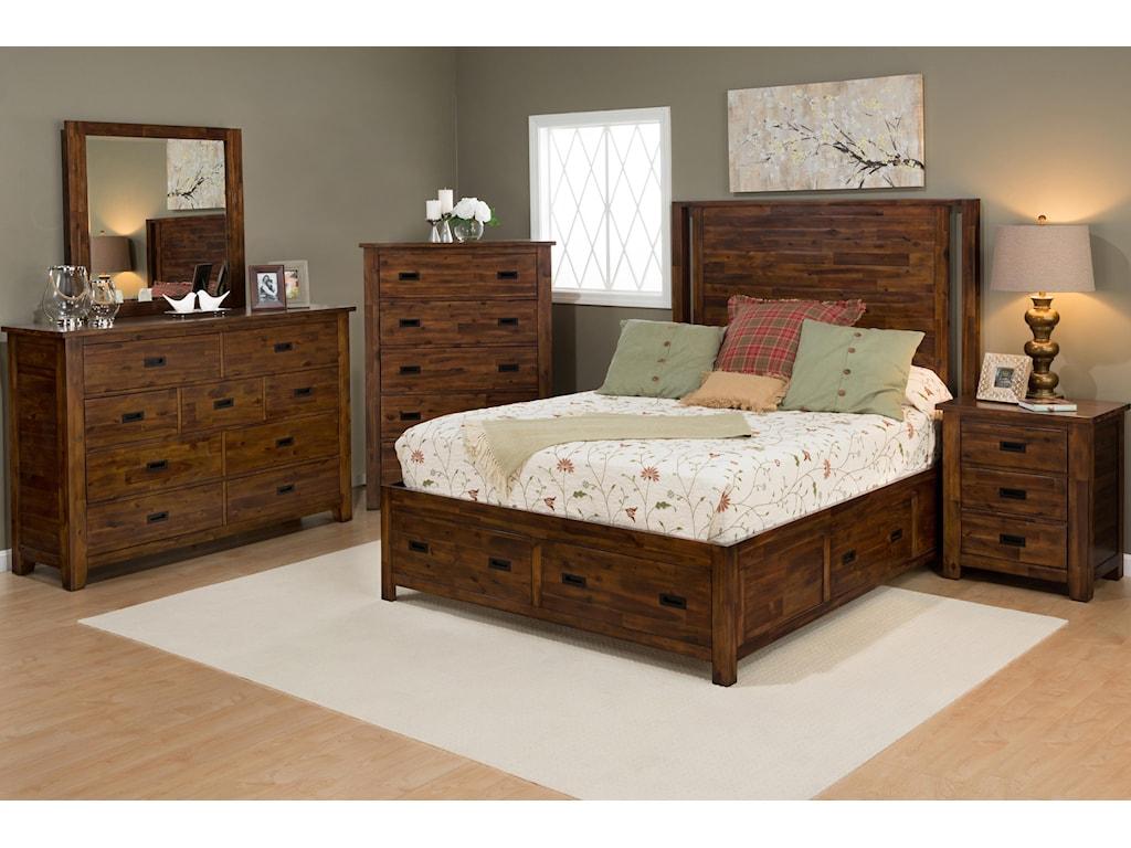 Jofran Coolidge Corner9 Drawer Dresser and Mirror