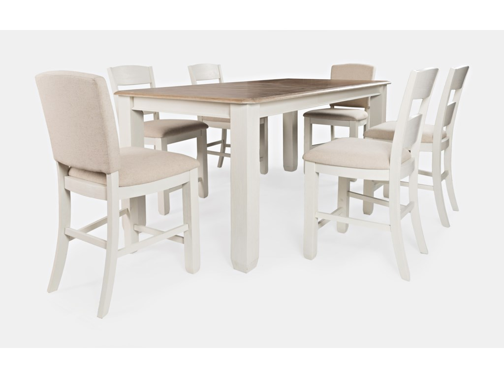Jofran Dana Point7-Piece Counter Height Table and Chair Set