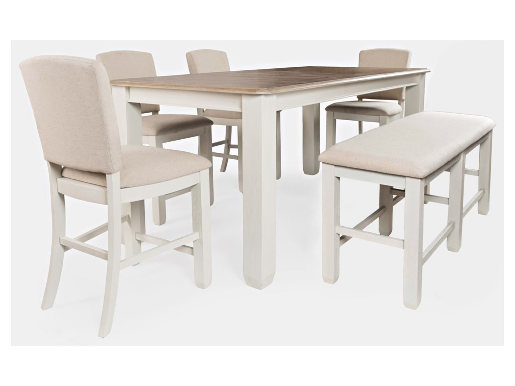 Jofran Dana Point6-Piece Counter Height Table and Chair Set