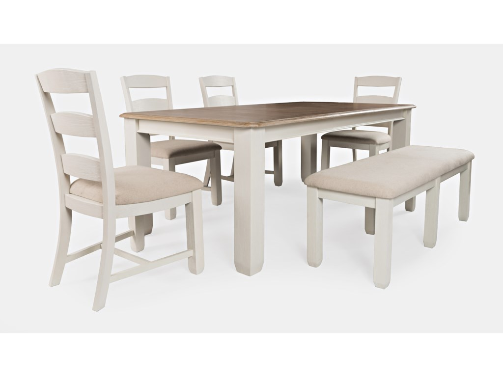 Jofran Dana Point6-Piece Table and Chair Set with Bench