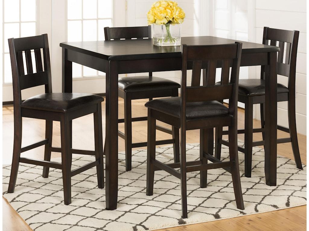 Jofran Dark Rustic PrarieDark Rustic Prairie Counter Height Table Set