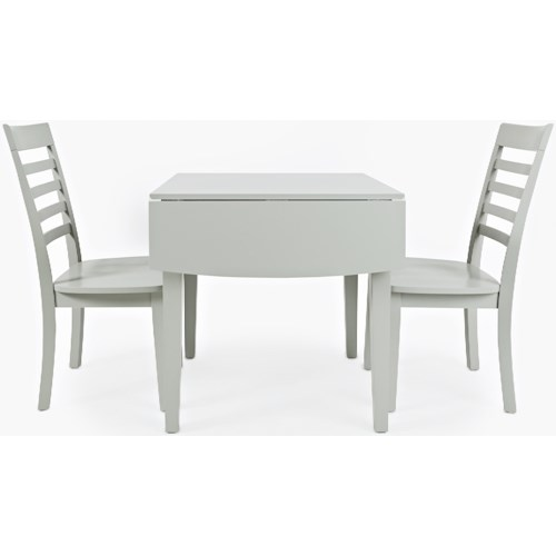 Jofran Everyday Classics Drop-Leaf Rectangle Table and 2 Chair Set