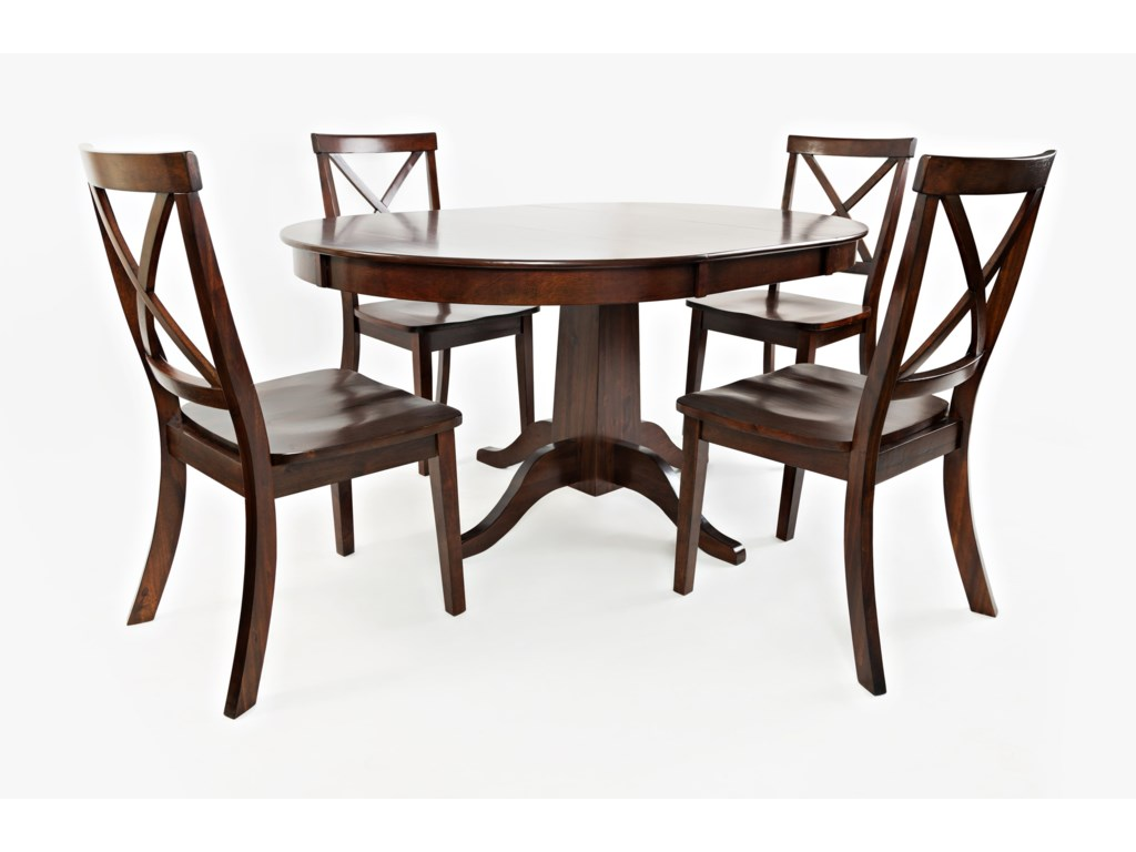 Jofran Everyday Classics Round To Oval Dining Table And Chair Set - Oval dining table for 4