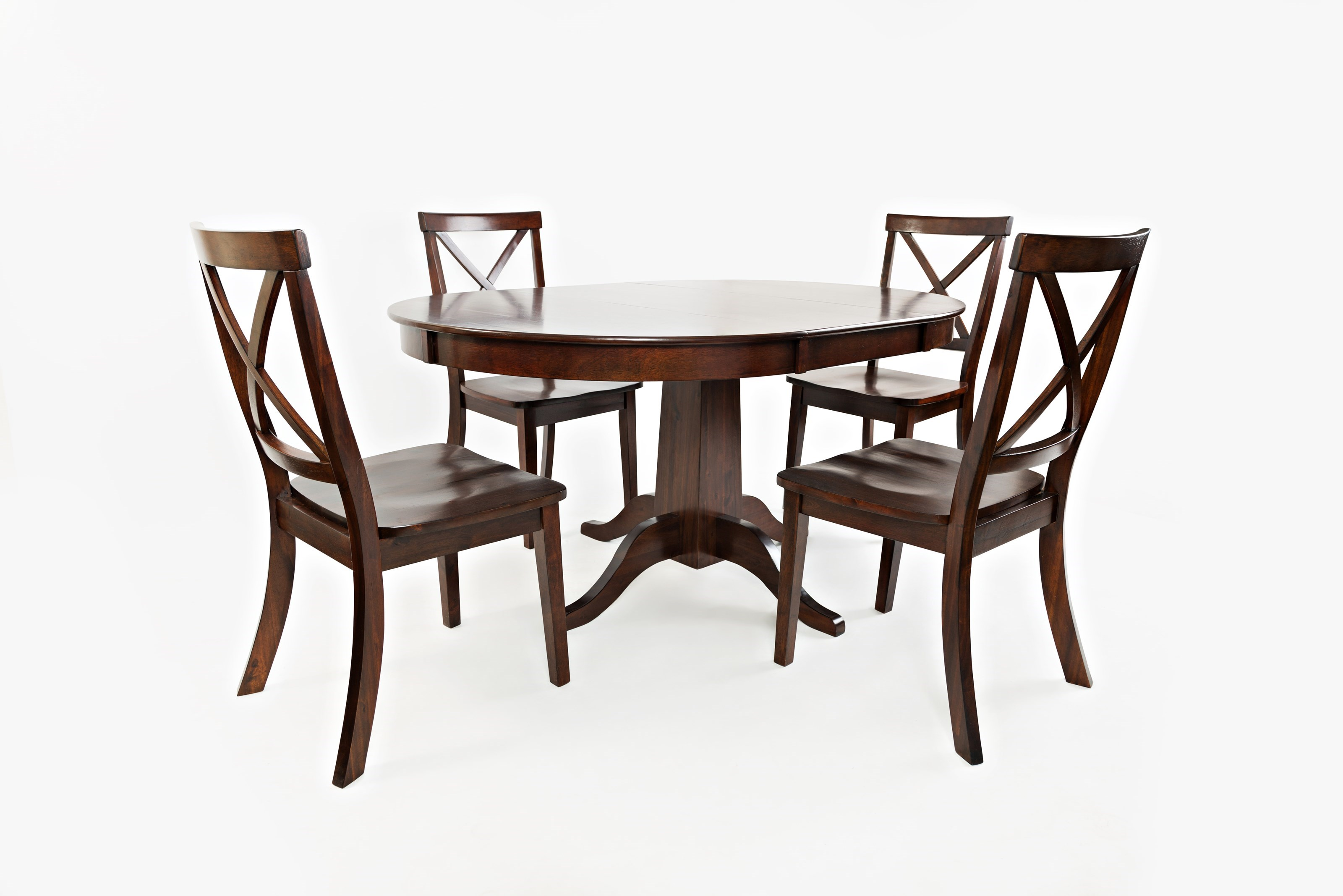 Jofran Everyday ClassicsRound To Oval Dining Table And 4 Chair Set ...