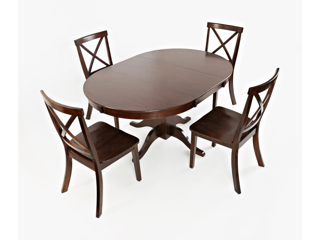 VFM Signature Everyday ClassicsRound to Oval Dining Table and 4 Chair Set