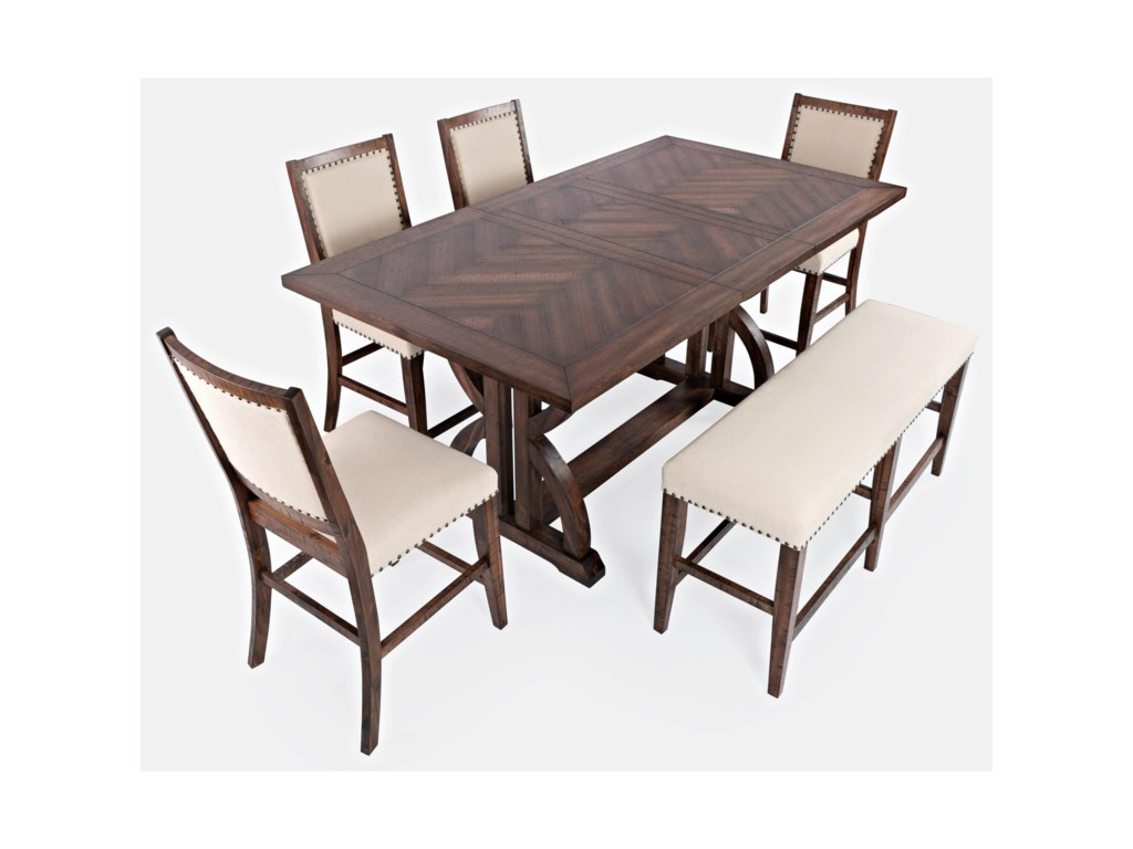 Jofran Fairview6-Piece Counter Table and Chair Set