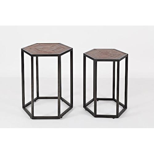 Jofran Flatiron District Two Piece End Table Set