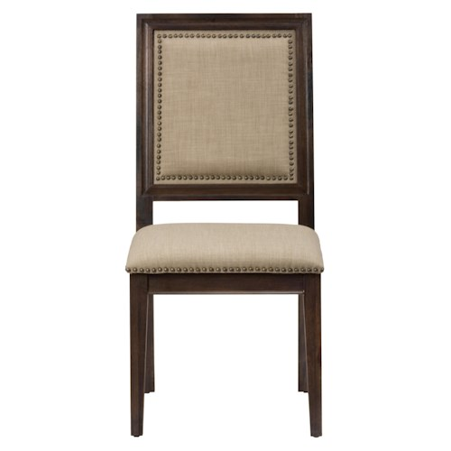 Jofran Evelyn Picture Frame Side Chair with Upholstered Back and Seat