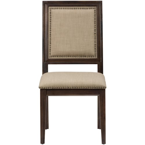 Jofran Geneva Hills Picture Frame Side Chair with Upholstered Back and Seat