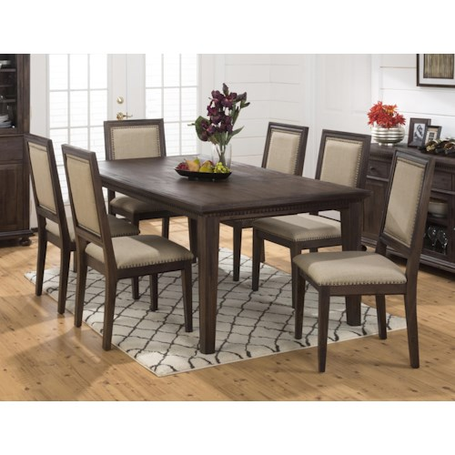 Jofran Evelyn 7-Piece DiningTable and Side Chair Set