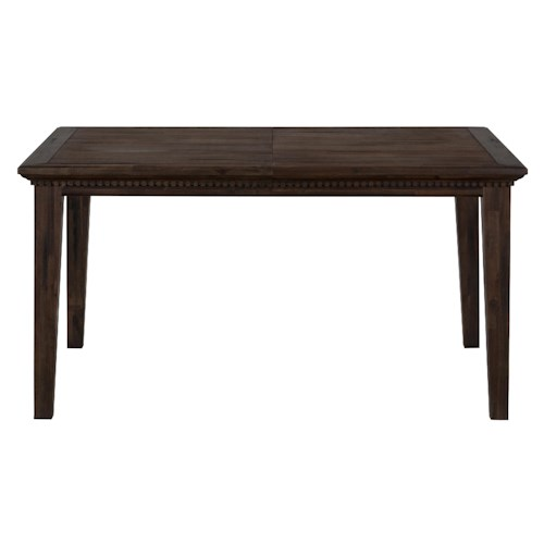 Jofran Evelyn Wire-Brushed Dining Table that Seats 6 with Removable Leaf