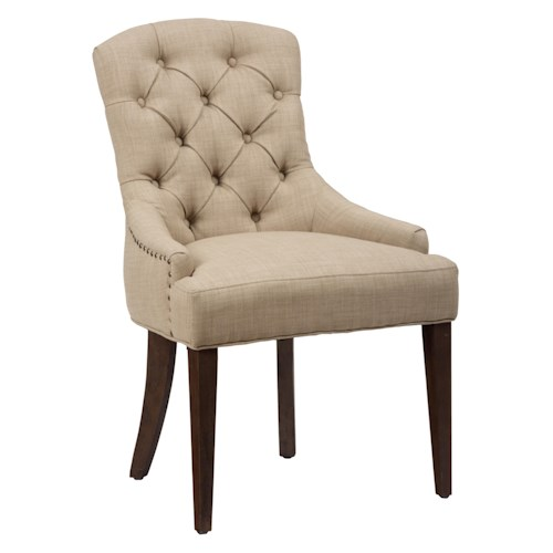 Jofran Evelyn Upholstered Side Chair with Tufted Back