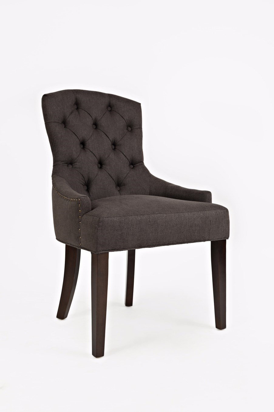 Jofran geneva hills pierce ch charcoal upholstered side chair with tufted back gill brothers furniture dining side chairs