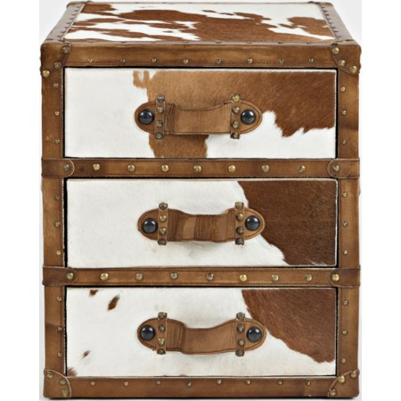 Hair-on-Hide Accent Chest
