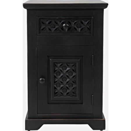 Black Cabinet Accent Table