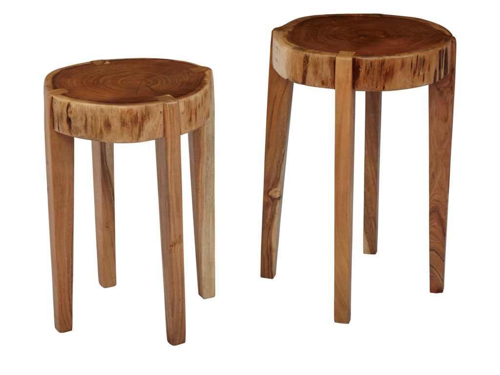 Jofran Global ArchiveAll Wood Accent Tables (Set of 2)