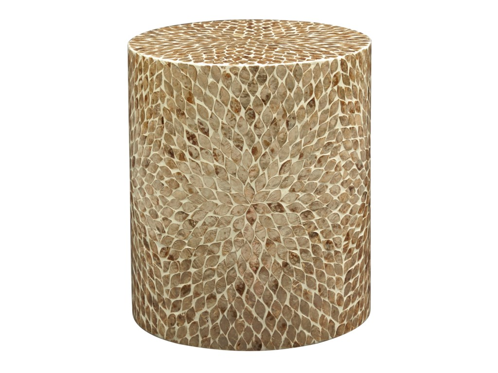 Jofran Global ArchiveRound Capiz Accent Table