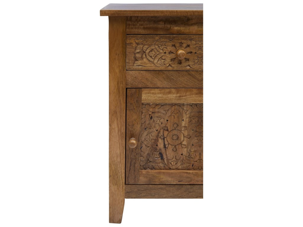 Jofran Global ArchiveHand Carved Accent Table