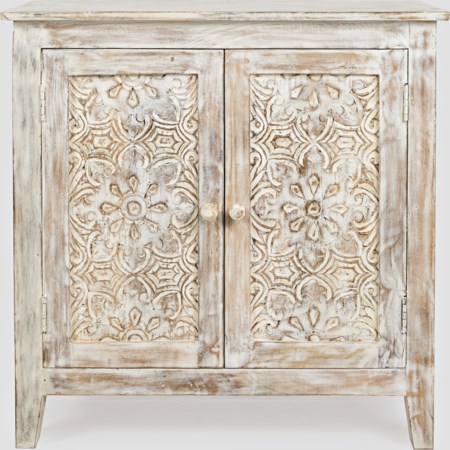 Hand Carved Accent Chest