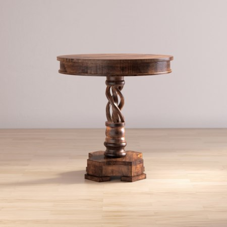 Hand Carved Pedestal Table