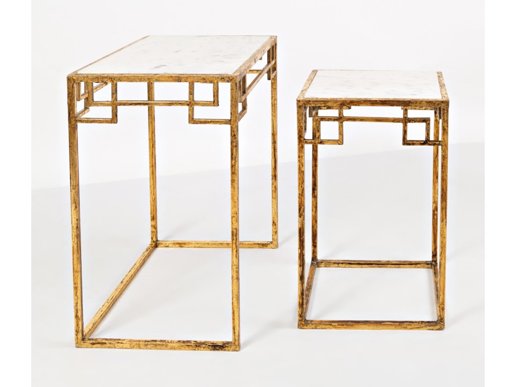 Jofran Global ArchiveMarble & Matte Nesting Tables (Set of 2)