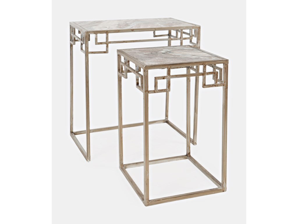 Jofran Global ArchiveNovak Marble Nesting - Set of 2 Small Table