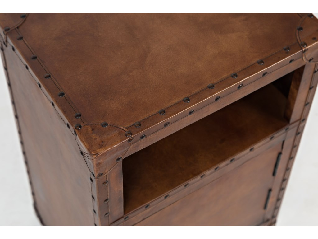 Jofran Global ArchiveLeather Accent Table