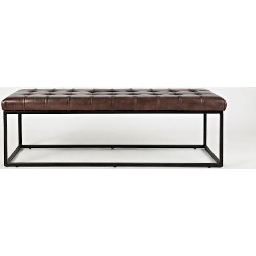 Jofran Global Archive Leather Ottoman