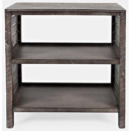 Clark Slatted Bookcase - Stonewall Grey
