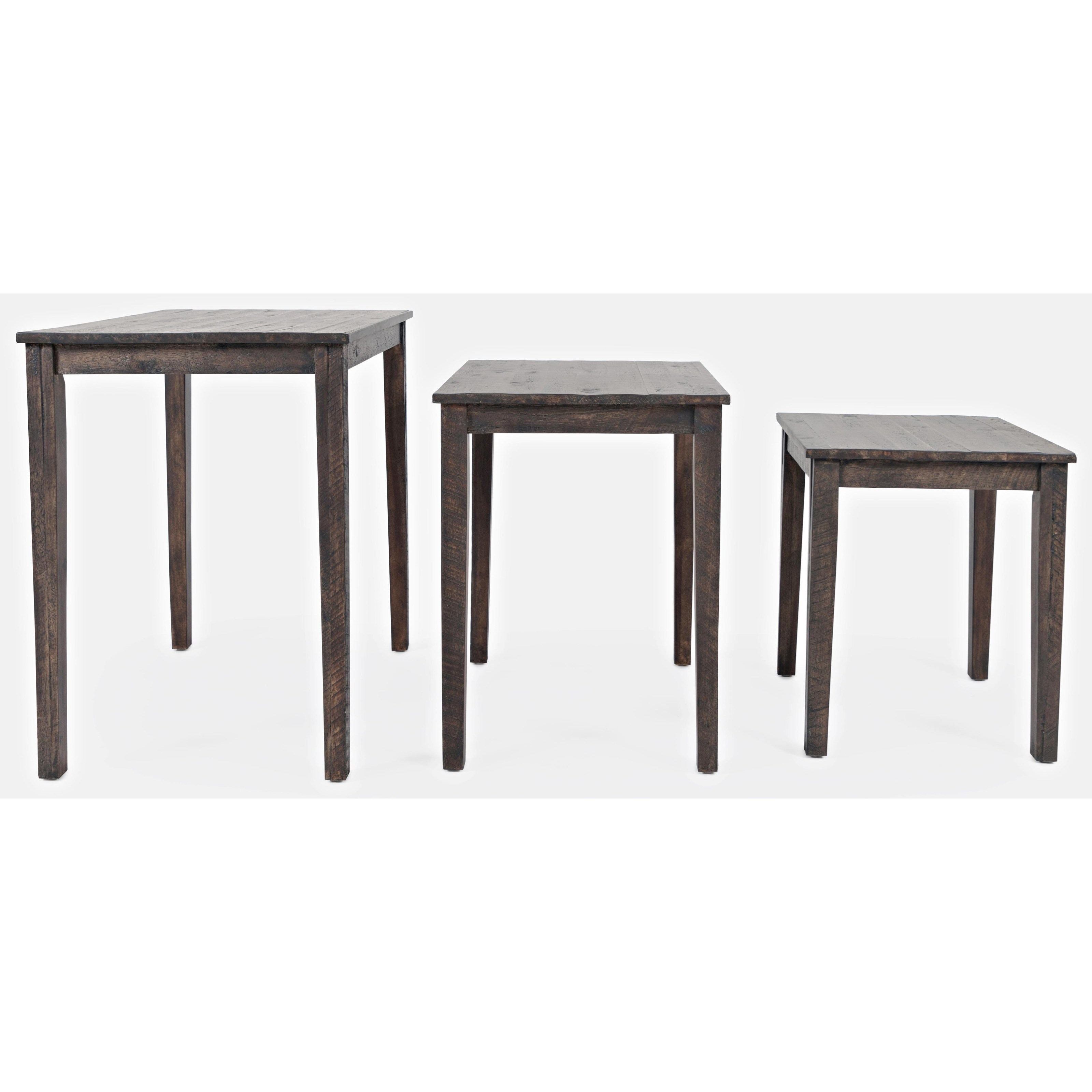 Furniture Nest Of 3 Tables Wood Coffee Table Set End Side Table Nesting Kit With Solid Leg Home Furniture Diy Quatrok Com Br