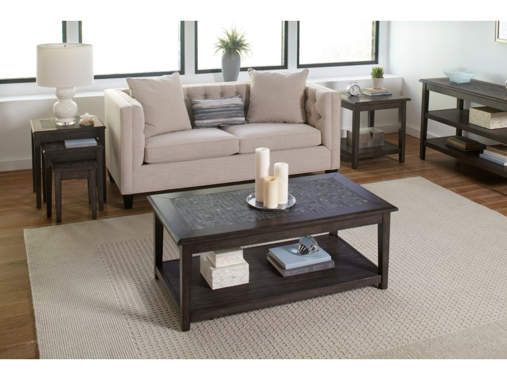 Jofran Grey MosaicCocktail Table