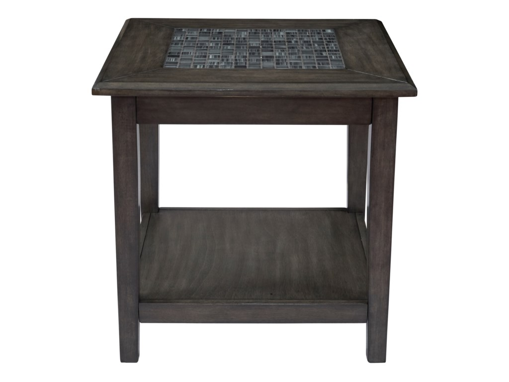 Jofran Grey MosaicEnd Table