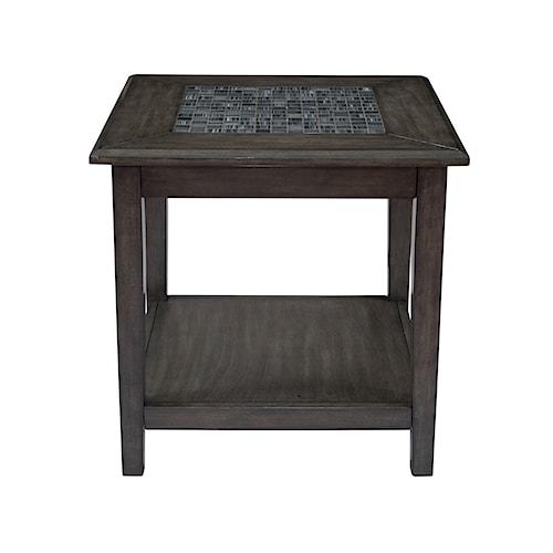 Jofran Grey Mosaic End Table