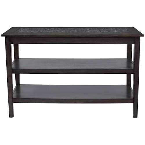 Jofran Grey Mosaic Sofa/Media Table