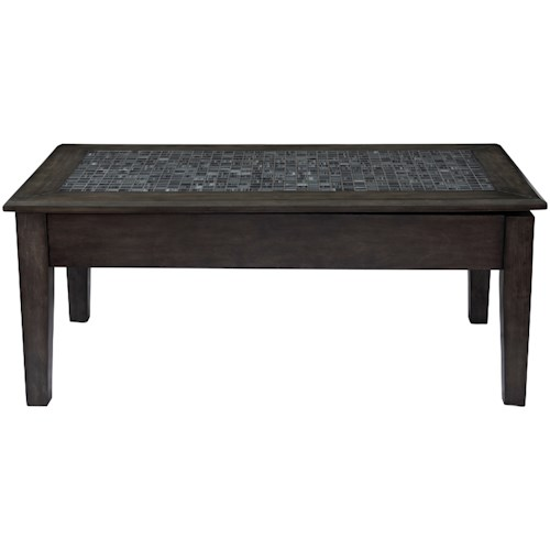 Jofran Grey Mosaic Lift Top Cocktail Table