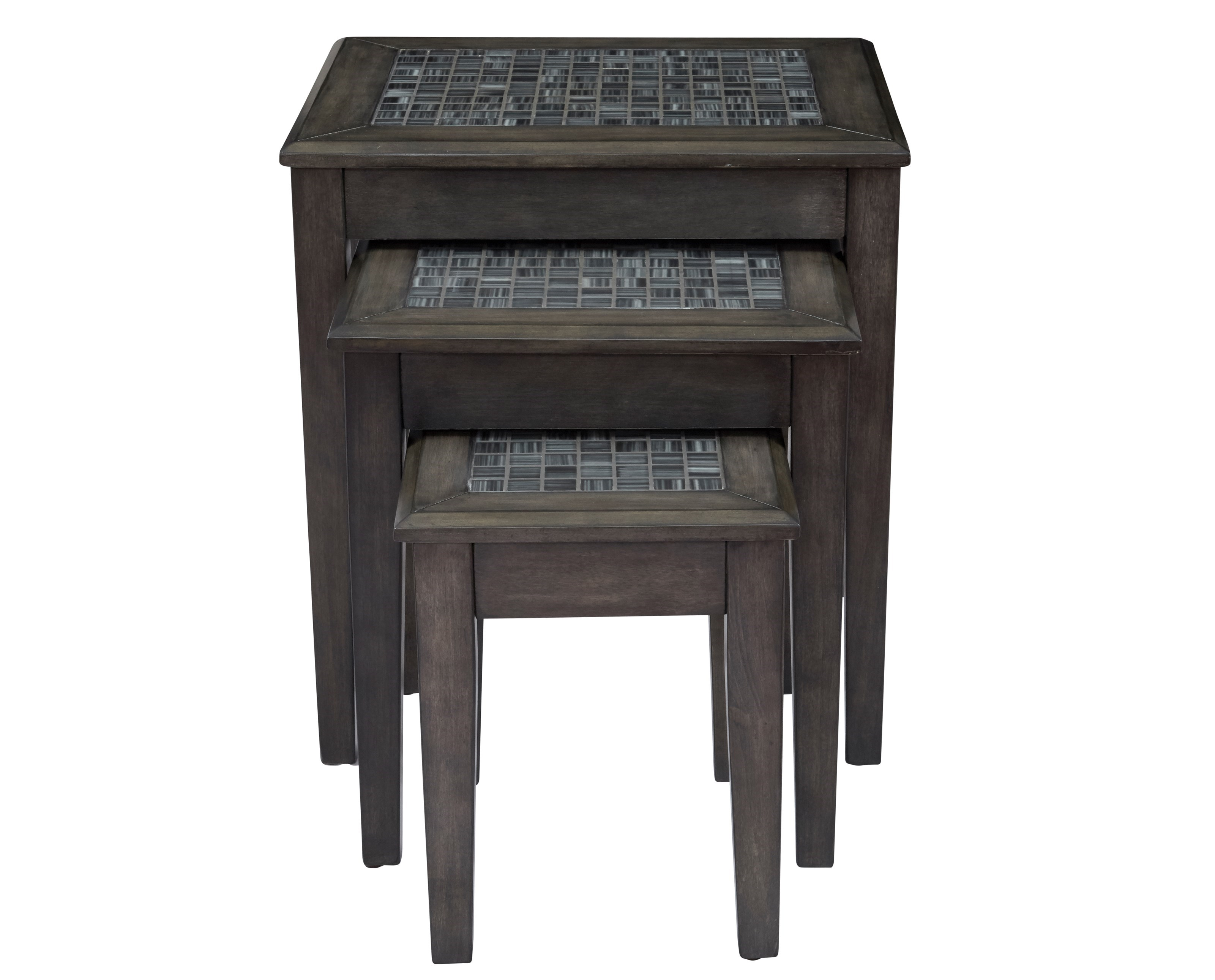 Jofran Grey Mosaic Nesting Tables   Set Of 3