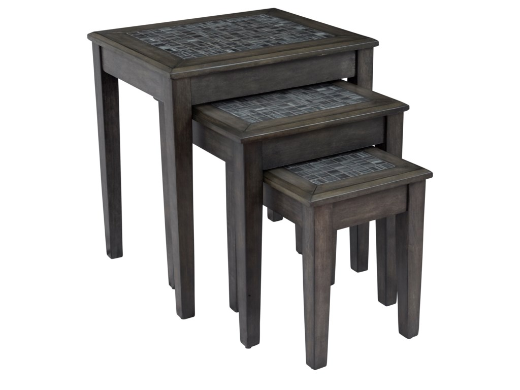 Jofran Grey MosaicNesting Tables - Set of 3