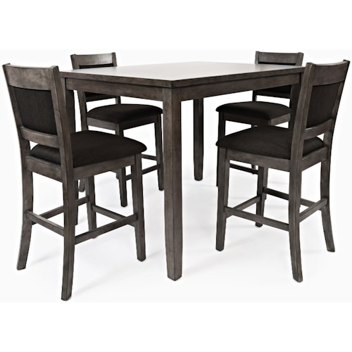 Jofran Greyson Heights 5 Pack Counter Height Dining Set