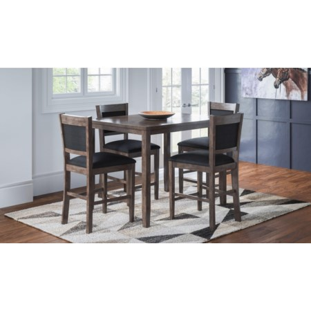 Pub Height Table and 4 Stools