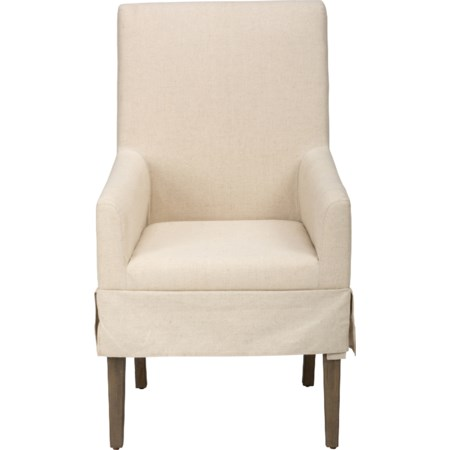 Slipcovered Dining Chair with Arms