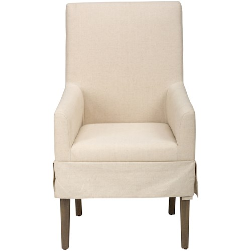 Jofran Hampton Road Slipcovered Dining Chair with Arms