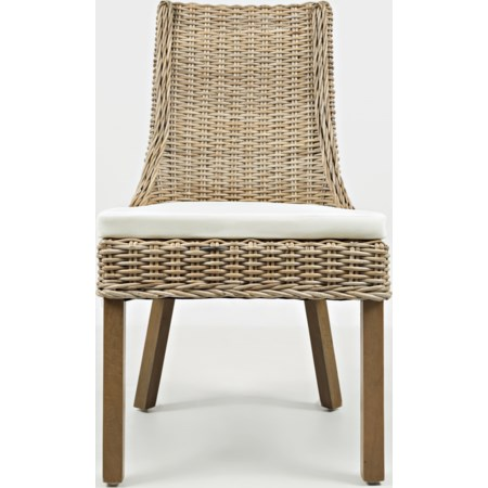 Rattan Dining Chair with Cushion