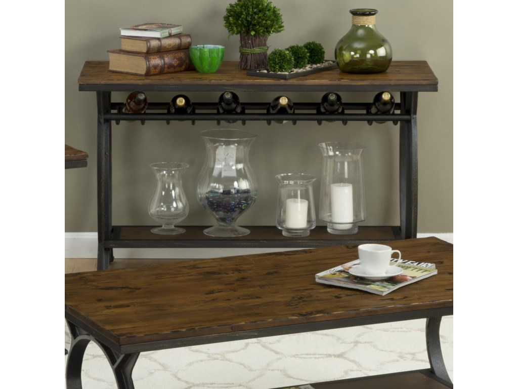 Coffee Table Wine Rack.Harpers Press Harper S Press Sofa Table With Wine Rack By Belfort Essentials At Belfort Furniture